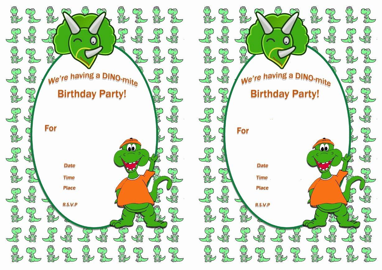 Dinosaur Birthday Party Invitations Elegant 19 Roaring Dinosaur Birthday Invitations
