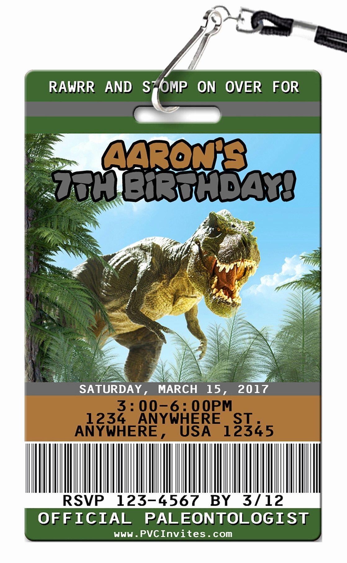 Dinosaur Birthday Party Invitations Elegant Dinosaur Birthday Invitations Pvc Invites Vip Birthday Invitations