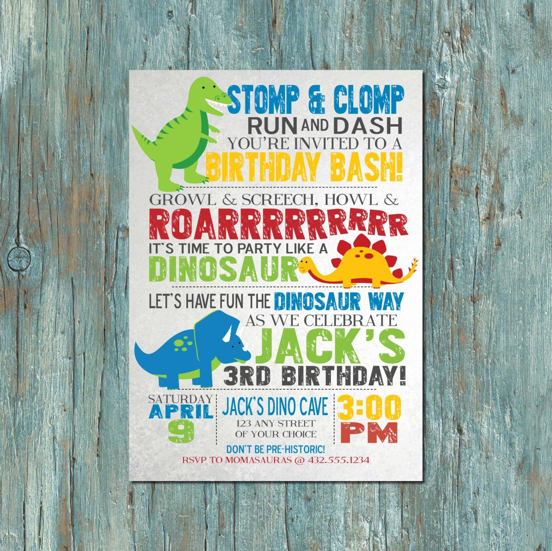 Dinosaur Birthday Party Invitations Fresh Dinosaur Birthday Party Invitation