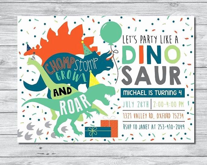 Dinosaur Birthday Party Invitations Inspirational Best 25 Dinosaur Invitations Ideas On Pinterest