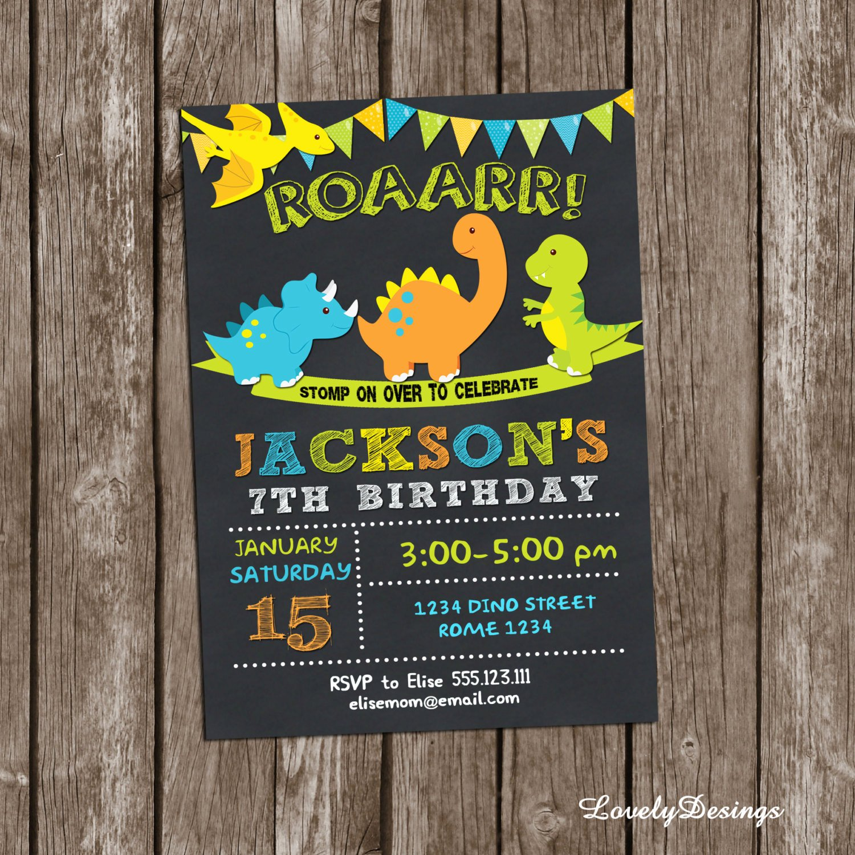 Dinosaur Birthday Party Invitations Inspirational Dinosaurs Birthday Invitation Dinosaurs Invitationdinosaurs