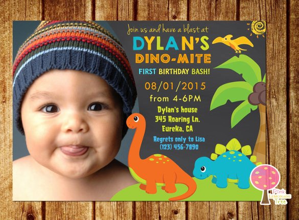 Dinosaur First Birthday Invitations Beautiful 14 Dinosaur Birthday Invitations Psd Vector Eps Ai