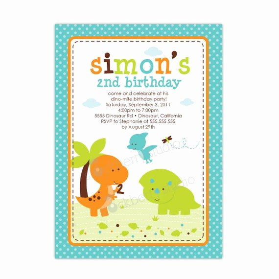 Dinosaur First Birthday Invitations Fresh Items Similar to Dinosaur Birthday Invitation Printable Dinosaur 1st Birthday Invitation