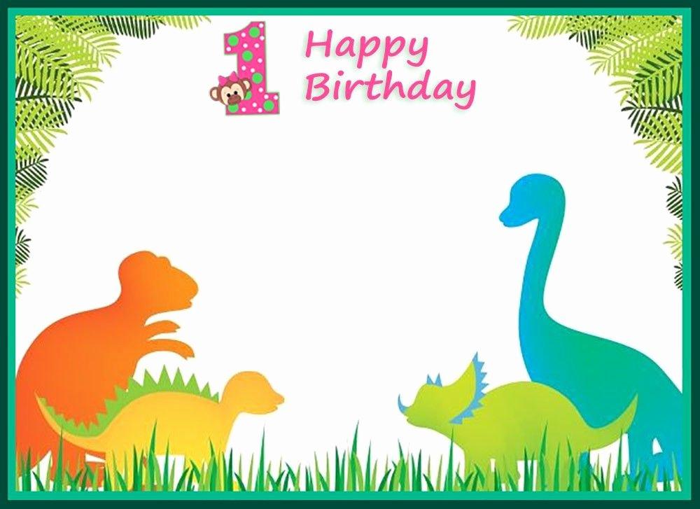 Dinosaur First Birthday Invitations Luxury First Birthday Dinosaur Invitation Template Coolest Invitation Templates