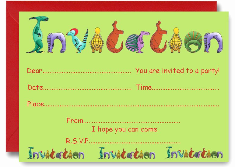 Dinosaur First Birthday Invitations Unique 19 Roaring Dinosaur Birthday Invitations