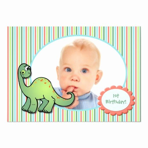 Dinosaur First Birthday Invitations Unique Boy S Dinosaur First Birthday Party Invitation
