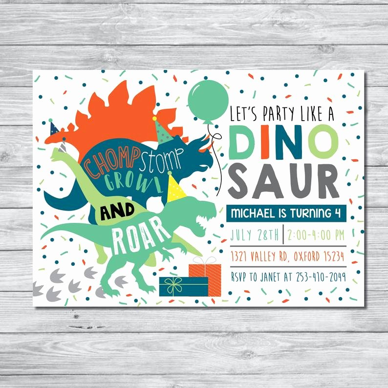 Dinosaur Invitations Free Printable Awesome Dinosaur Birthday Party Invitation Dinosaur Birthday Boy