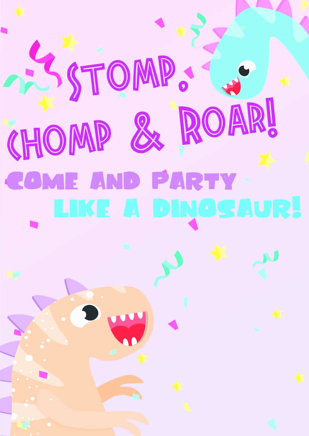 Dinosaur Invitations Free Printable Best Of Dinosaur Birthday Invitations Free Printable Party