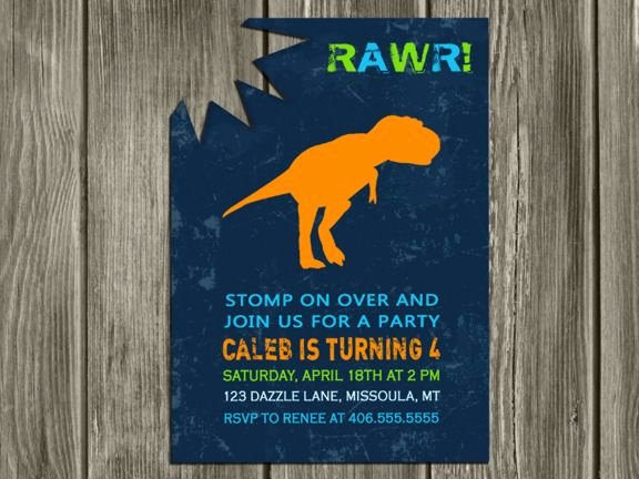 Dinosaur Invitations Free Printable Best Of Printable Modern Dinosaur Birthday Invitation