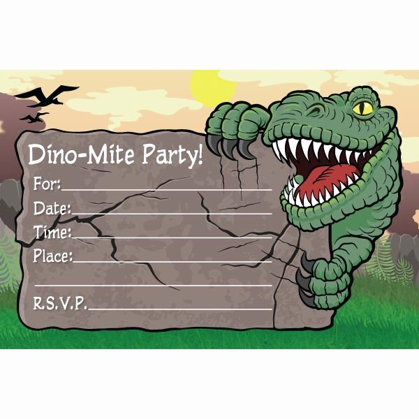 Dinosaur Invitations Free Printable Fresh Dinosaur Birthday Invitations Personalized