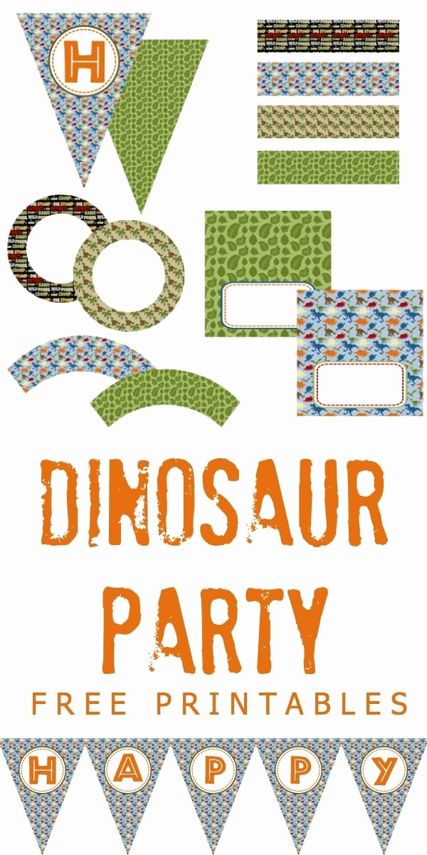Dinosaur Invitations Free Printable Inspirational Dinosaur Party Free Printables