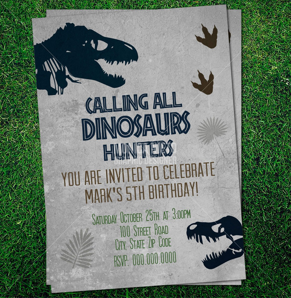 Dinosaur Invitations Free Printable Luxury Custom Printable Jurassic Dinosaur Party Birthday Invitation