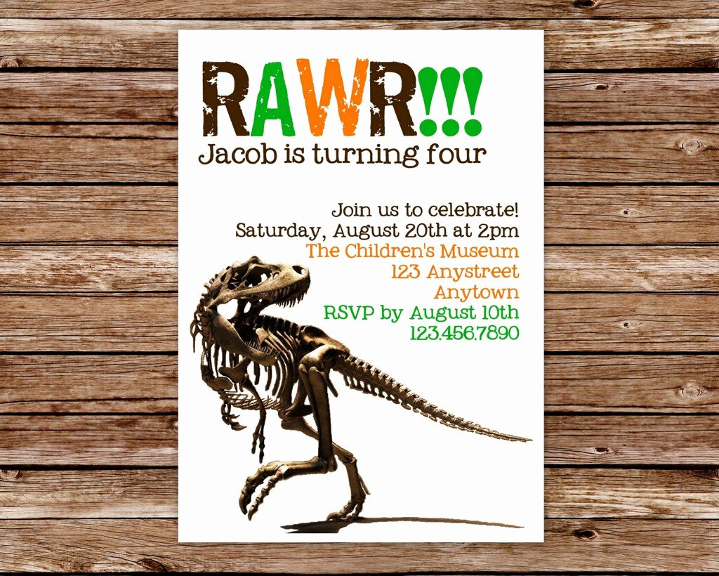 Dinosaur Invitations Free Printable New Diy Printable Dinosaur Birthday Party by thepaperblossomshop
