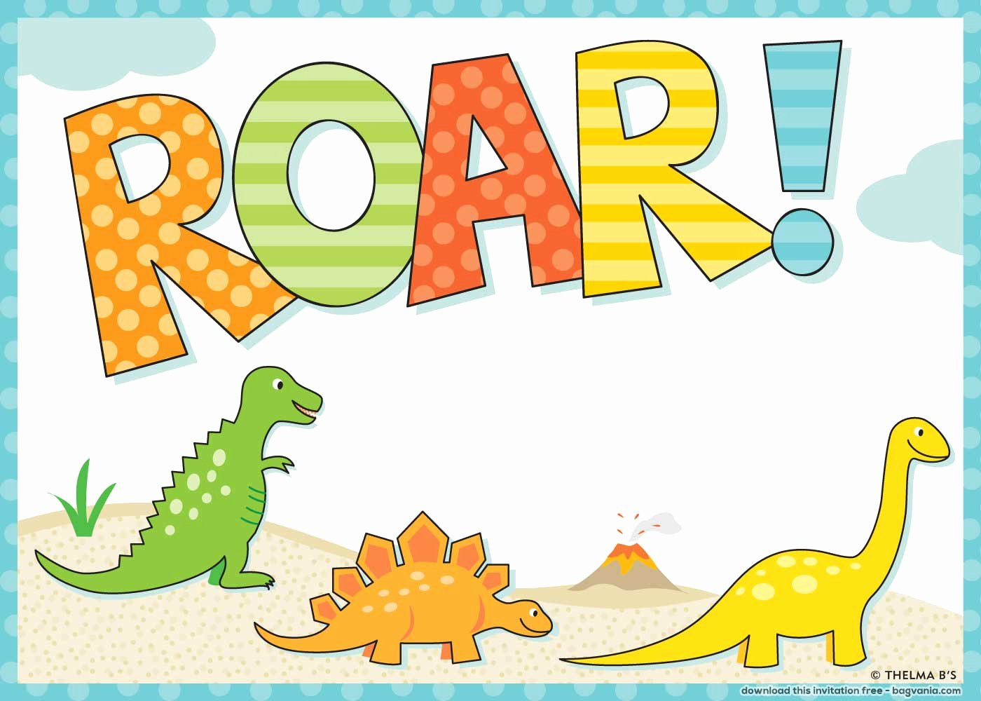 Dinosaur Invitations Free Printable New Free Dinosaur Birthday Invitations – Free Printable