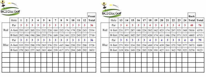 Disc Golf Score Cards Beautiful Bc3 Disc Golf Brown County Country Club