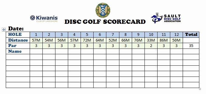 Disc Golf Score Cards Luxury Rattle the Chains – Disc Golf Officially Opens