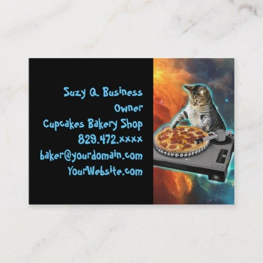 Disc Jockey Business Card Awesome Funky Disc Jockey Dj Grunge Business Card