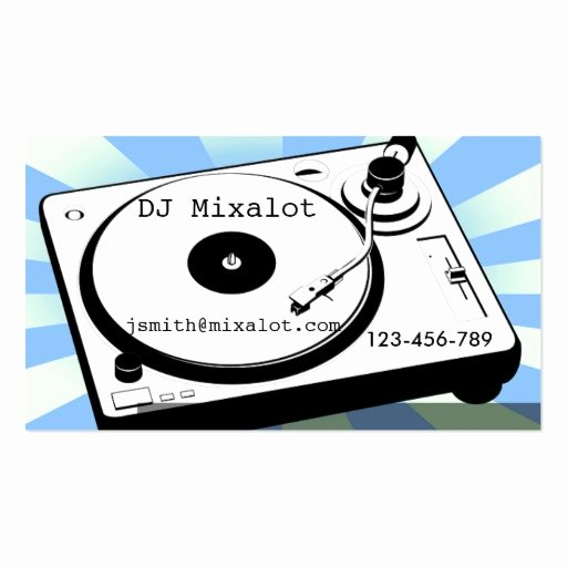 Disc Jockey Business Card Beautiful Freelance Dj Disc Jockey Vinyl Retro Music Business Card