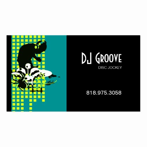 Disc Jockey Business Card Best Of Vinyl Record Business Cards 312 Vinyl Record Business Card Templates