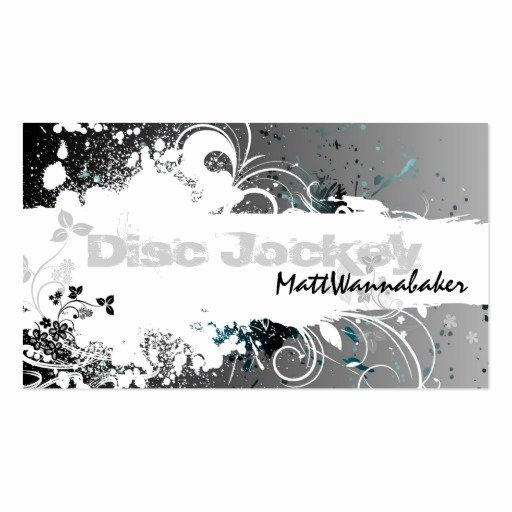 Disc Jockey Business Card Fresh Create Your Own Nail Technician Business Cards Page5