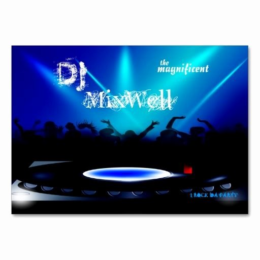 Disc Jockey Business Card New 307 Best Dj Business Cards Images On Pinterest