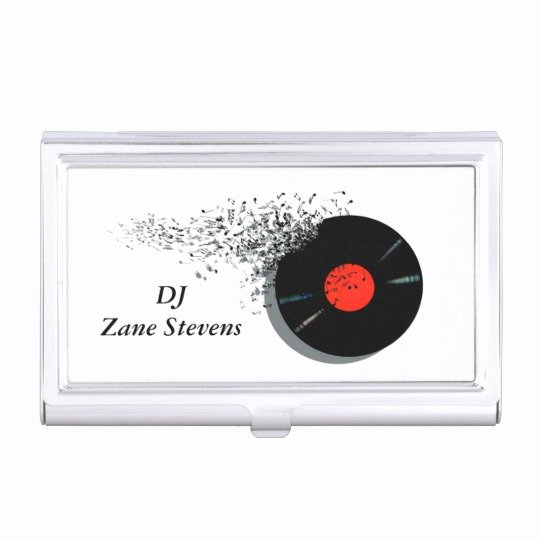 Disc Jockey Business Card New Create Your Own Business Card Holder