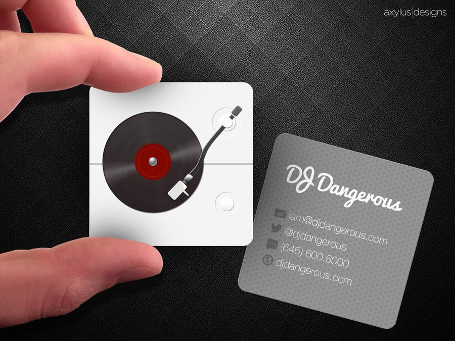 Disc Jockey Business Card Unique Disc Jockey Business Card – Emmamcintyrephotography