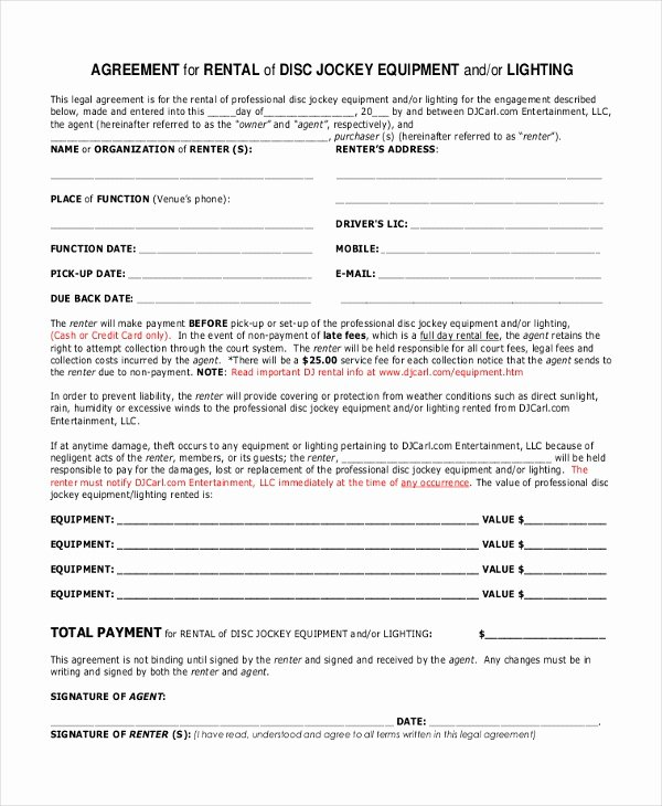 Disc Jockey Contract form Beautiful Sample Dj Contract form 8 Free Documents In Pdf Doc