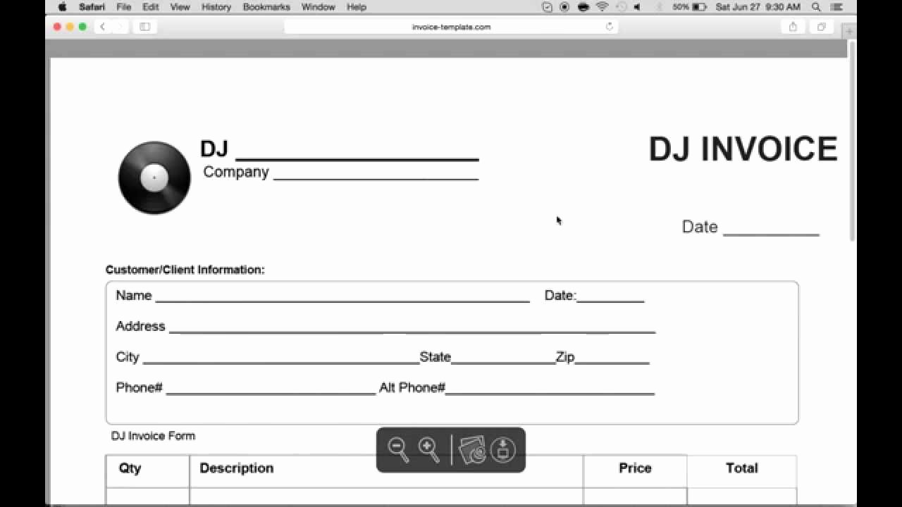 Disc Jockey Contracts Template Awesome Dj Invoice Template