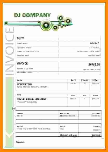 Disc Jockey Contracts Template Beautiful 7 Dj Invoice Templates