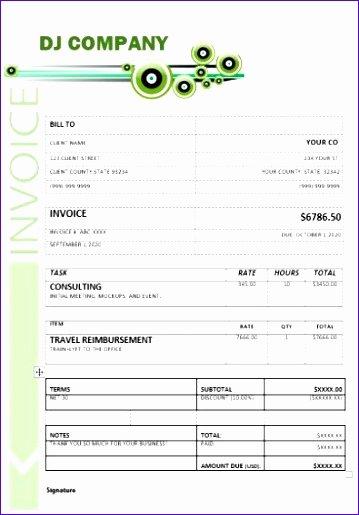 Disc Jockey Contracts Template Elegant 6 Free Tax Invoice Template Excel Exceltemplates Exceltemplates