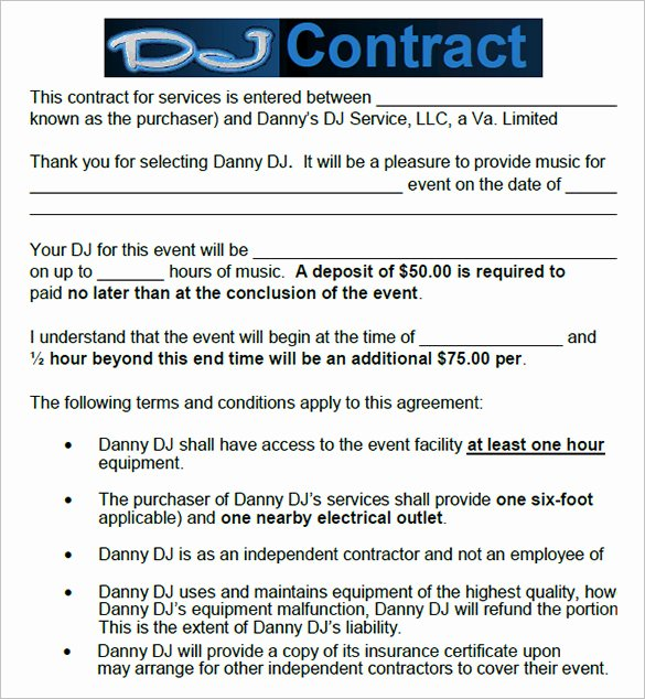 Disc Jockey Contracts Template Lovely 16 Dj Contract Templates Pdf Word Google Docs Apple Pages