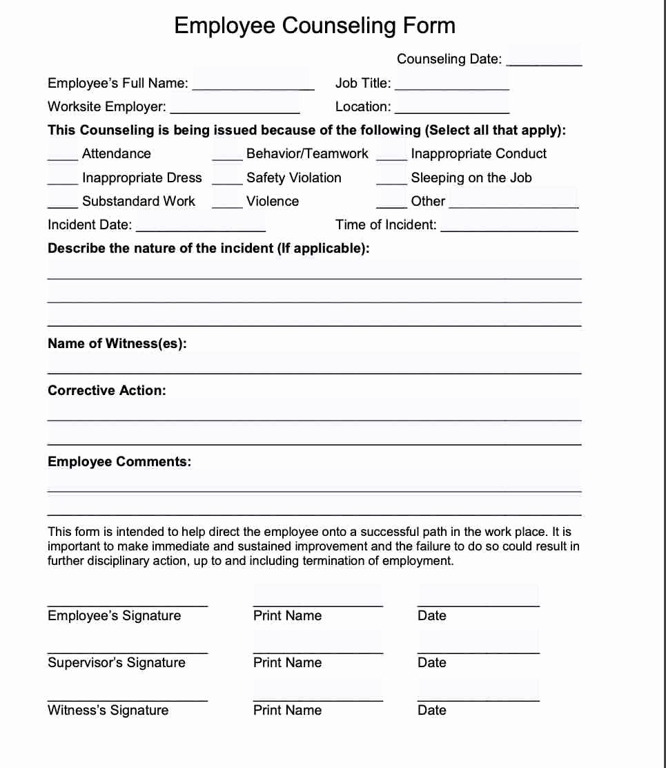 Disciplinary Action form Word Document Fresh 20 Employee Write Up form Free Download [pdf Word]