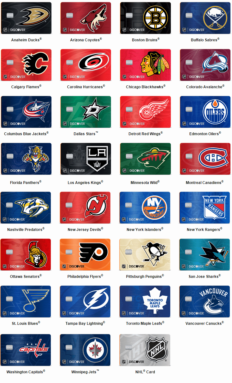 Discover Card Design Options Lovely New Discover It Nhl Credit Cards Our Review Doctor Credit