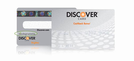 Discover It Card Designs New is It Green the Biodegradable Credit Card