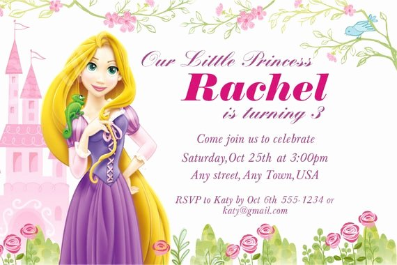 Disney Birthday Invitations Cards Luxury Items Similar to Disney Princess Invitation Printable Rapunzel Birthday Invitation On Etsy