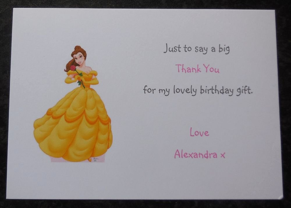 Disney Birthday Invitations Cards Luxury Personalised Disney Princess Party Invitations Thank You Cards Girls Birthday