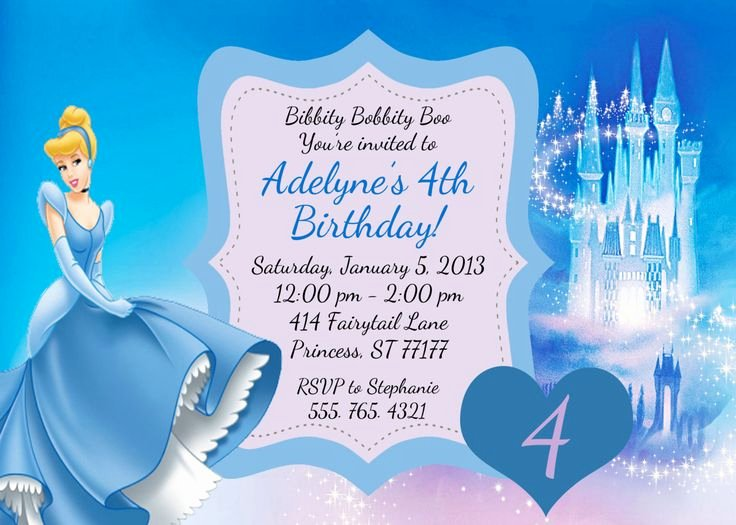 Disney Birthday Invitations Cards Unique Free Printable Cinderella Birthday Invitations – Free Printable Birthday Invitation Templates