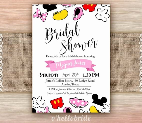 Disney Bridal Shower Invitations Awesome Disney Bridal Shower Invitation Printable Disney Engagement