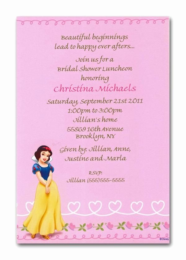 Disney Bridal Shower Invitations Awesome Disney S Snow White Invitation Can Be Used for Any Occasion by
