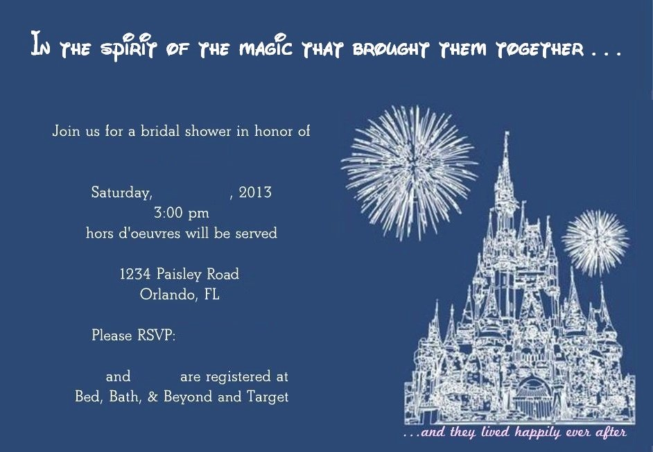 Disney Bridal Shower Invitations Beautiful Creating Fun Princess Bridal Shower