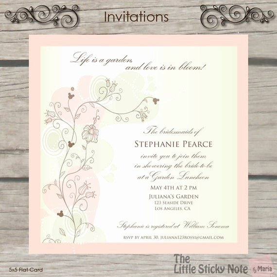 Disney Bridal Shower Invitations Elegant Items Similar to Disney themed Bridal Shower Invitations On Etsy
