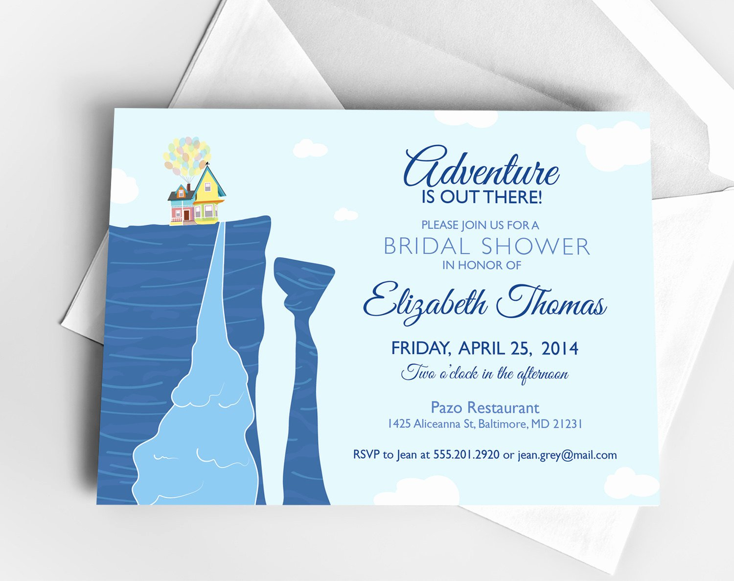 Disney Bridal Shower Invitations Luxury Disney Up Bridal Shower Invitation or Baby Shower by theinkedleaf
