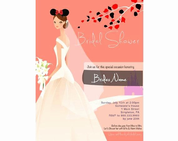 Disney Bridal Shower Invitations New Items Similar to Bridal Shower Invitation Dark Disney theme On Etsy