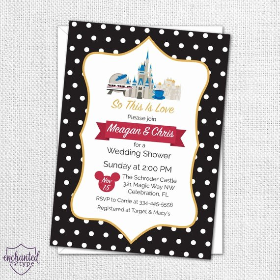 Disney Bridal Shower Invitations New Walt Disney World Party Invitation Printable Bridal Shower