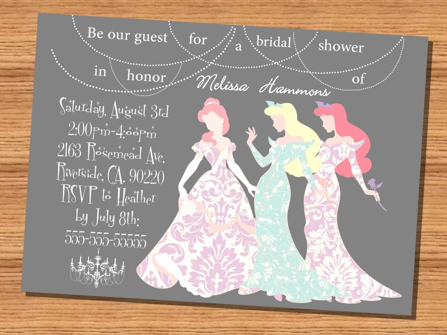 Disney Bridal Shower Invitations Unique Disney Bridal Shower Invitations Cobypic