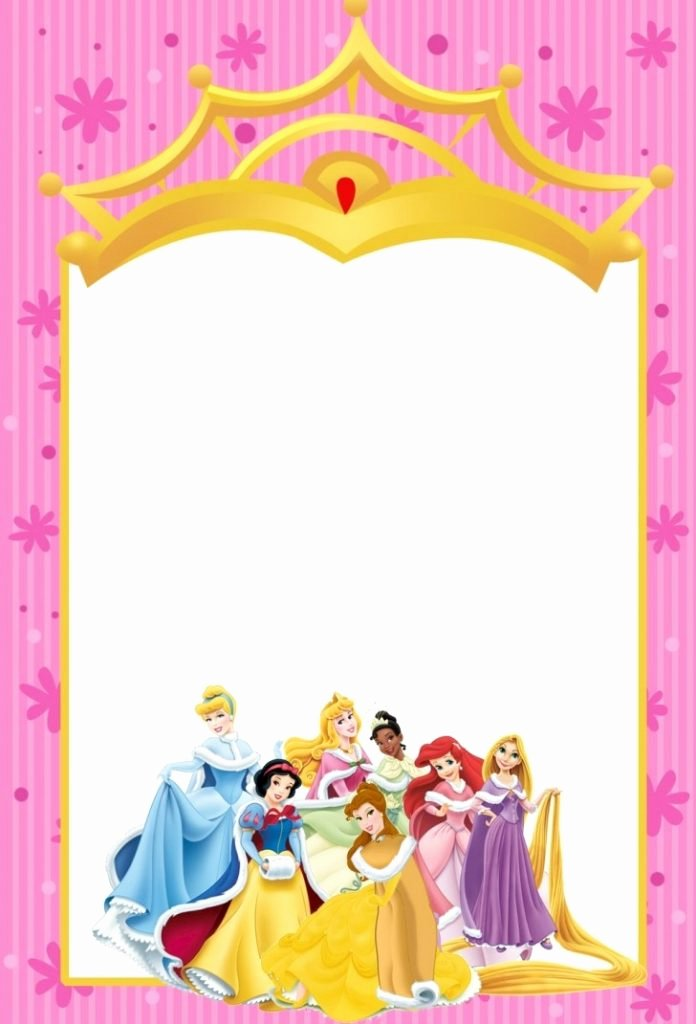 Disney Princess Invitation Template Awesome Great Disney Princess Invitation Templates Free Idea Mericahotel