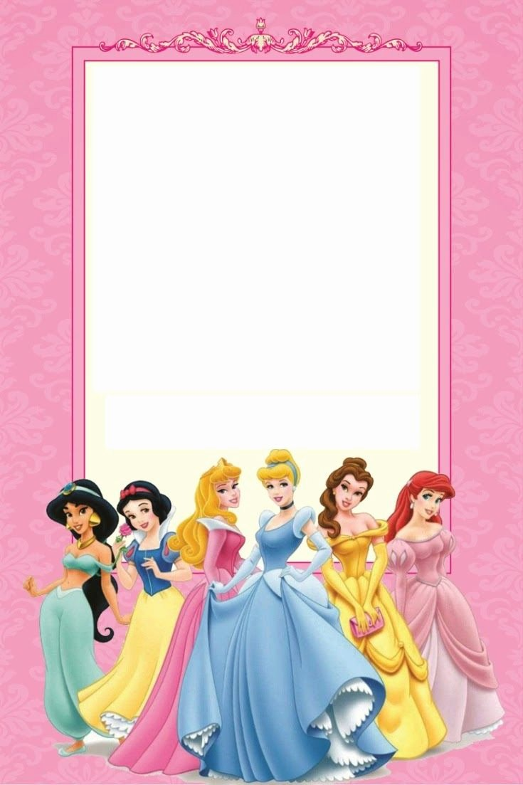 Disney Princess Invitation Template Elegant Disney Princess Birthday Invitations Printable Free Borders and Frames In 2019