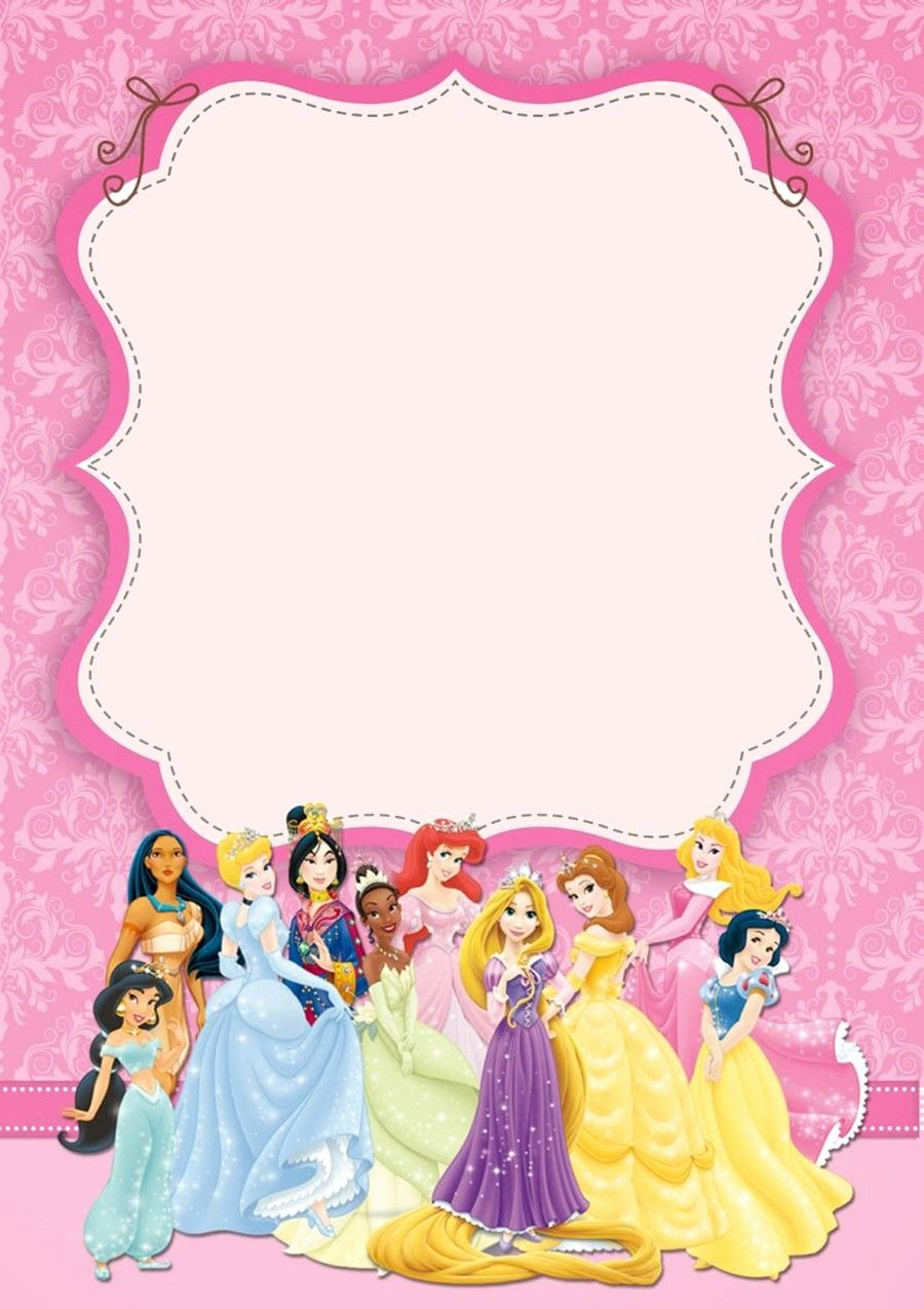 Disney Princess Invitation Template Elegant Disney Princesses Birthday Invitation Template Cinderella In 2019