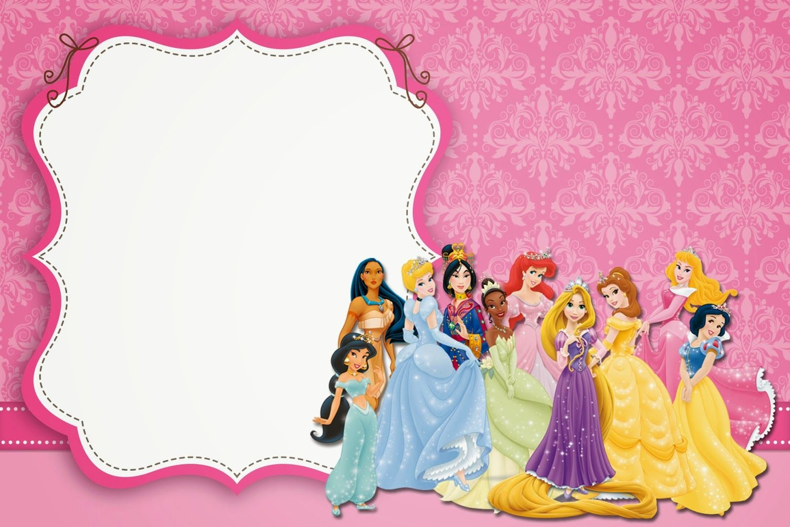 Disney Princess Invitation Template Fresh Blank Disney Princess Invite Google Search Jaila Bday In 2019